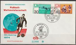 BRD FDC 1974 Nr.811- 812 Fußballweltmeisterschaft In Deutschland  ( D 4098 )günstige Versandkosten - FDC: Enveloppes