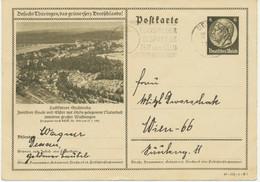 DEUTSCHES REICH Hindenburg 6 Pf Bildpost-GA STADTRODA Mit TELEFON-Werbestempel - Interi Postali