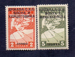 SHS BOSNA - BOSNIA & H. - JUGOSLAVIA - Mi. 17IIA + 18I - **MNH - 1918 - Nuevos