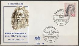 BRD FDC 1974 Nr.813 450.Todestag Hans Holbein D.Ä.  ( D 3998 ) - FDC: Enveloppes