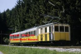 ReproductionPhotographie D'un Train à Crémaillère à Wendelsteinbahn En Bavière En Allemagne 1969 - Reproducciones