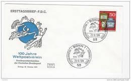 BRD FDC 1974 Nr.825 100 Jahre Weltpostverein ( D 357 )Günstige Versandkosten - FDC: Enveloppes