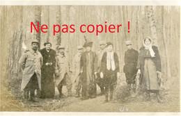 PHOTO FRANCAISE - POILUS DU 322e RIT ET CIVILS  A BERNAY PRES DE ROZAY EN BRIE - PROVINS SEINE ET MARNE GUERRE 1914 1918 - 1914-18