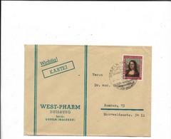 Brief Aus Usseln 1952 - Lettres & Documents