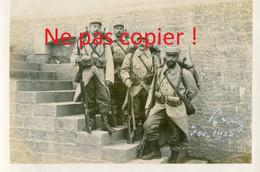 PHOTO FRANCAISE - BEAUX POILUS DU 322e RIT A RODEZ PRES DE SAINTE RADEGONDE EN AVEYRON 1915 - GUERRE 1914 1918 - 1914-18