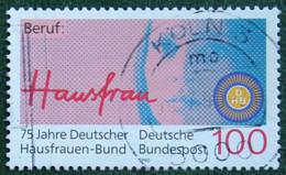 100 Pf 75 Jahre Deutscher Hausfrauen-Bund Mi 1460 1990 Used Gebruikt Oblitere Germany BRD Allemange - Oblitérés