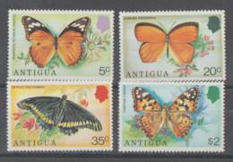 Antigua  **   Mnh   1975  YVERT  382/85  VALOR  10.50 €  MARIPOSAS - Antigua Y Barbuda (1981-...)