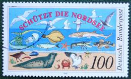 100Pf Nordseeschutz-Konferenz Fish Bird Mi 1454 1990 Used Gebruikt Oblitere Germany BRD Allemange - Oblitérés