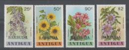 Antigua Y Barbuda **   Mnh   1978  YVERT  412/15   FLORES - Antigua Y Barbuda (1981-...)