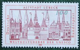 100Pf Altstadt Lübeck UNESCO Mi 1447 1990 Used Gebruikt Oblitere Germany BRD Allemange - Oblitérés