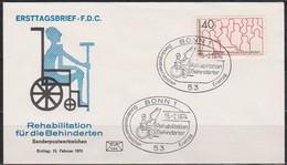 BRD FDC 1974 Nr.796 Rehabilitation Behinderter ( D 167 )Günstige Versandkosten - FDC: Enveloppes
