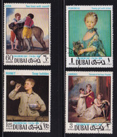 Dubai 1968, Complete Set Paintings, Vfu - Dubai