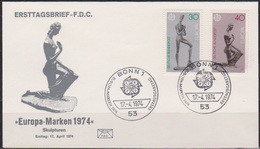 BRD FDC 1974 Nr.804-805 Europa ( D 1251 ) - FDC: Enveloppes