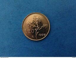 1999 ITALIA REPUBBLICA MONETA COIN 20 LIRE RAMO DI QUERCIA FDC UNC DA ROTOLINO - 20 Lire