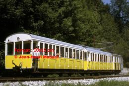 ReproductionPhotographie D'un Contrôleur à L'arrière D'un Train à Crémaillère à Wendelsteinbahn Bavière Allemagne 1969 - Reproducciones