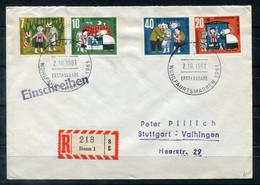 F0979 - BUND - Mi. 369-372 Auf R-FDC - FDC: Enveloppes