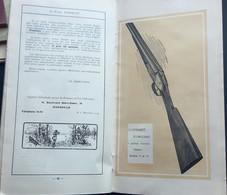 CATALOGUE ARMES DE CHASSE FUSIL ELEPHANT ARMURERIE DESCRIPTION ET GRAVURES BON ETAT VERS 1925 - Advertising