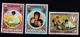 Dubai 1971, Complete Set Unicef, Vfu. Cv 3,40 Euro - Dubai