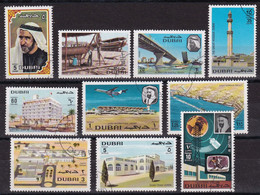 Dubai 1970, Complete Set, Vfu. Cv 17 Euro - Dubai