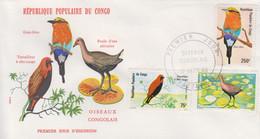 Enveloppe  FDC   1er    Jour    CONGO     Oiseaux  Congolais    1980 - FDC