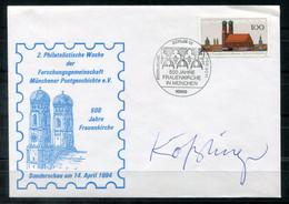 """F0983 - BUND - FDC Mit Mi.1731 (Münchner Frauenkirche) Mit Unterschrift Des Entwerfers """"Ernst Kößlinger"""" - FDC: Enveloppes"""
