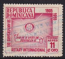 Dominican Republic 1955, Rotary, Minr 540 Vfu - República Dominicana