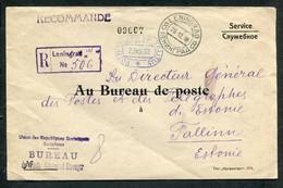 62238 OFFICIAL Cover To ESTONIA Post General Director Tallinn From Russia Leningrad 1938 Cancel - Briefe U. Dokumente