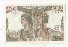Billet , France , 5000 ,cinq Mille Francs , Terre Et Mer , 1-3-1956 , Frais Fr 2.00 E - 5 000 F 1949-1957 ''Terre Et Mer''