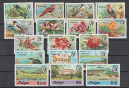 Antigua  **   Mnh   1977  YVERT  290/307  VALOR  24  €   FRUTAS  FALTA  290 - Antigua Y Barbuda (1981-...)