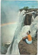 V5937 Zambia - Victoria Falls - Ragazza Girl Femme Frau Chica / Viaggiata 1972 - Zambia