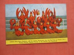 Lobster King Harry Hackney With His Lobster Waitress  Atlantic City   New Jersey>   Ref  4735 - Atlantic City