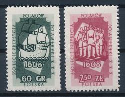 POLEN / POLAND / POLSKA  -  1958  ,   350. Jahrestag Landung Poln. Emigranten In Amerika   -  Michel  1073/74   MNH / ** - Unused Stamps