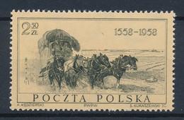 POLEN / POLAND / POLSKA  -  1958  ,   400 Jahre Polnische Post   -  Michel  1072   MNH / ** - Unused Stamps