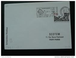 Championnat Du Monde Escrime Fencing World Cup Clermont Ferrand Flamme Concordante Sur Lettre Postmark On Cover - Esgrima