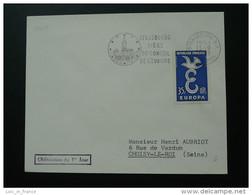 Conseil De L'Europe Strasbourg 1958 Flamme Concordante Sur Lettre Postmark On Cover - 1958