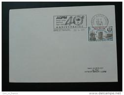 AGPM 1991 Brest Naval Flamme Concordante Sur Lettre Postmark On Cover - Seepost