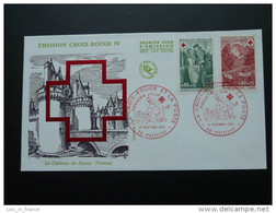 FDC Croix Rouge Red Cross 1970 Poitiers - Red Cross