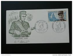 FDC Burin D'Or Maréchal Juin 1970 - Guerre Mondiale (Seconde)