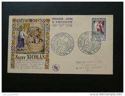 FDC Saint Nicolas Légende Legend Image D'Epinal Vosges 1951 Cote 60 Euros - 1950-1959