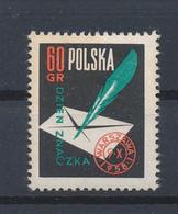 POLEN / POLAND / POLSKA  -  1958  ,   Tag Der Briefmarke  -  Michel  1068   MNH / ** - Unused Stamps