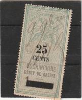 Cochinchine.Timbre Fiscal Type Oudiné  Droit De Greffe 25 C Sur 1 Franc - Non Classés