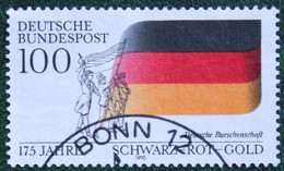 100 Pf 175 Jahre Nationalfarben Mi 1463 1990 Used Gestempelt Gebruikt Oblitere Germany BRD Allemange - Oblitérés