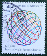100 Pf 125 Jahre Internationale Fernmeldeunion (UIT) Mi 1464 1990 Used Gebruikt Oblitere Germany BRD Allemange - Oblitérés