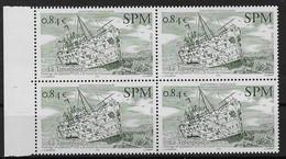 2002 Saint Pierre Et Miquelon N° 784 (Bloc De 4)  Nf** MNH. Bateau . Le Troutpool  (sous Faciale) - Neufs