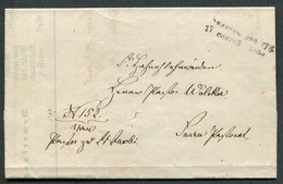 62225 Russia ESTONIA Gallik LINE Cancel 1885 Cover Letter Kvellenstein & Pernov Postmark - Briefe U. Dokumente