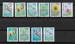 &108A& FRANCE PREOBLITERES YVERT 253/256+257/258+259/262 MNH**. FLOWERS, FLEURS. - 1989-....