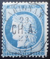 "R1512/39 - CERES N°60C - SUPERBE Cachet CONVOYEUR STATION "" CARIGNAN 23 CH.A. 29 (7) "" - 1871-1875 Cérès"