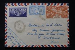 INDOCHINE - Enveloppe D'un Soldat De Saigon Pour La France En 1947 Par Avion - L 90672 - Briefe U. Dokumente
