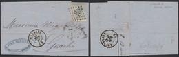 """émission 1865 - N°17 Sur LAC Obl Pt 235 """"Marbais"""" (Manuscrit Chassart, Exploitation Agricole) > Gosselies. Superbe ! - 1865-1866 Profil Gauche"""