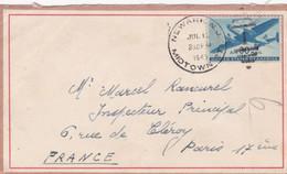 Enveloppe Newark Midtownà Paris France - Briefe U. Dokumente